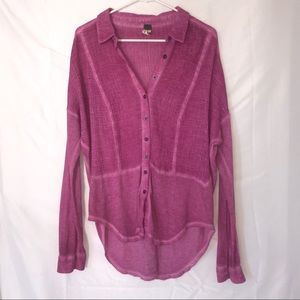 Magenta Free People button up